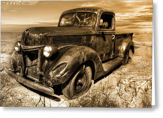 Hdr Landscape Mixed Media Greeting Cards - Deserted Greeting Card by Mark Hazelton