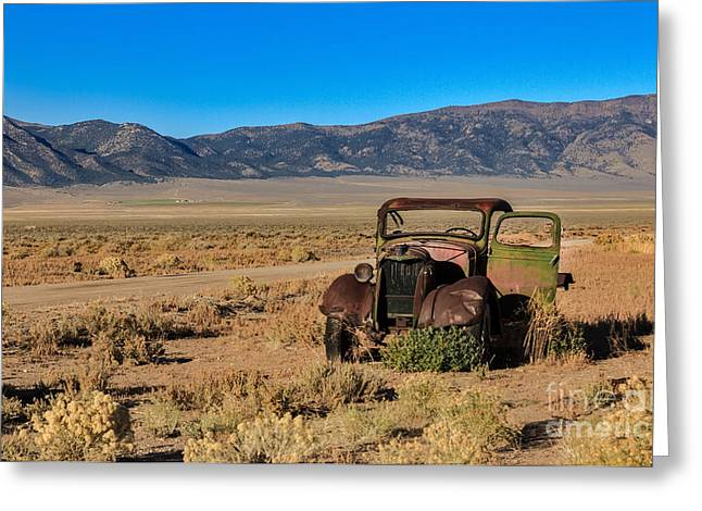 Ford Model T Car Greeting Cards - Deserted Greeting Card by Robert Bales