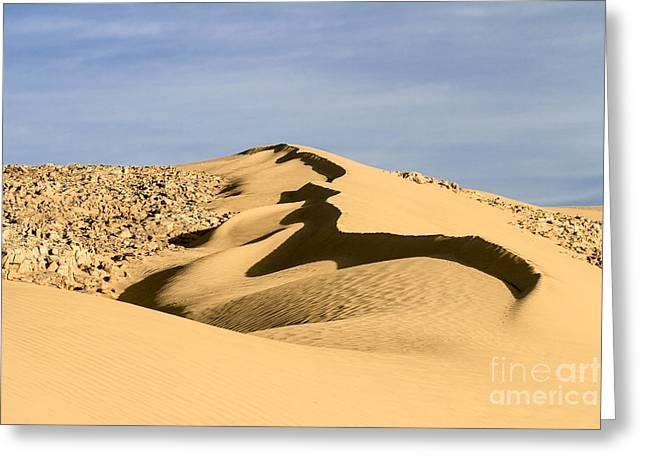 Sanddune Greeting Cards - Deset sand dune Greeting Card by Vladi Alon