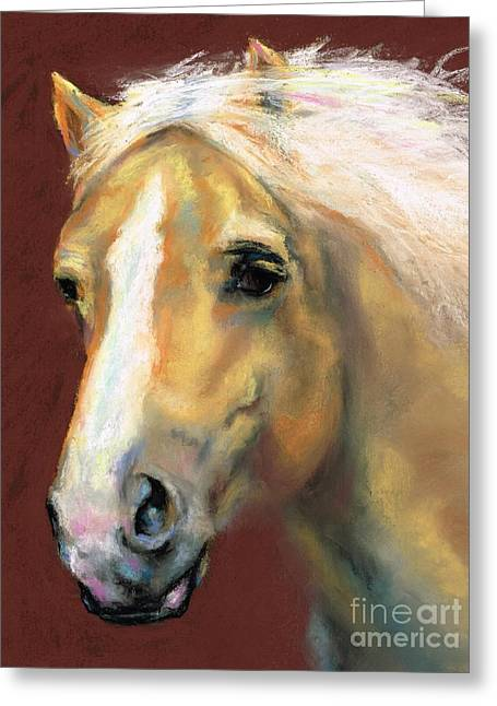 Horse Art Pastels Greeting Cards - Desi On The Run Greeting Card by Frances Marino