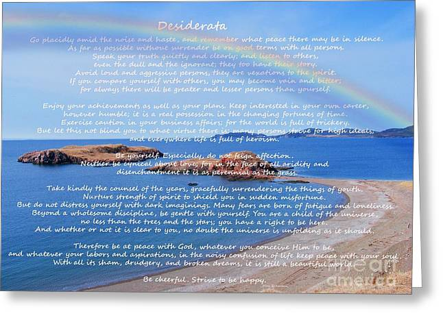 Barbara Griffin Greeting Cards - Desiderata  Greeting Card by Barbara Griffin