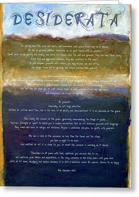 Wedding Card Greeting Cards - Desiderata lll Greeting Card by Michelle Calkins