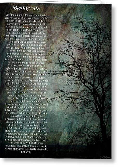 Texting Greeting Cards - Desiderata Of Happiness - Vintage Art by Jordan Blackstone Greeting Card by Jordan Blackstone