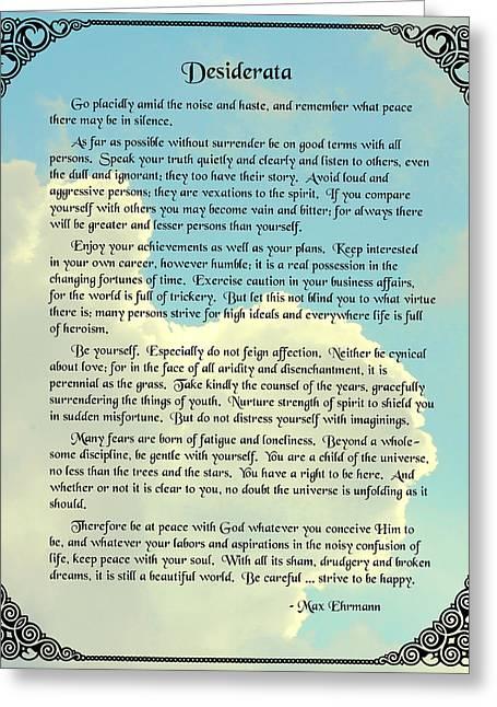 Desiderata 4 Greeting Card by Mike Flynn