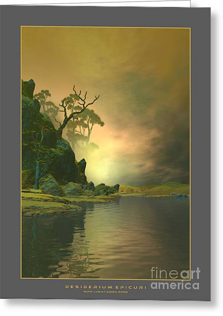 Inspirational Wildlife Prints Greeting Cards - Desiderium Epicuri Greeting Card by Sipo Liimatainen