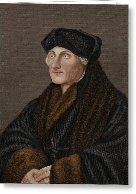 1400s Greeting Cards - Desiderius Erasmus, Dutch humanist Greeting Card by Science Photo Library