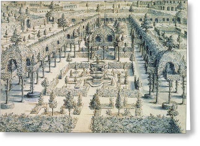 Formal Greeting Cards - Design For An Ornamental Garden, 1576 Greeting Card by Hans or Jan Vredeman de Vries