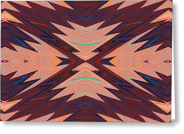Geometric Effect Greeting Cards - Design Spin 23 Greeting Card by Joe  Connors
