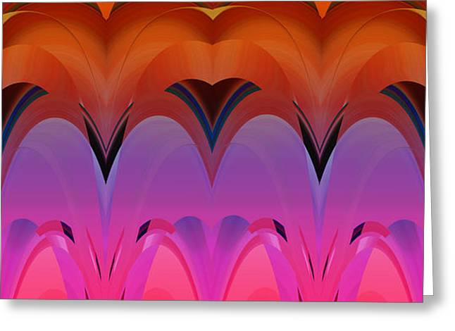Geometric Effect Greeting Cards - Design Spin 48 Greeting Card by Joe  Connors