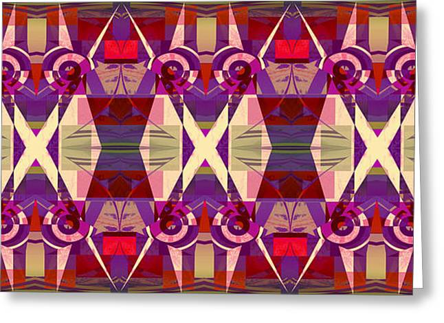 Geometric Effect Greeting Cards - Design Spin 76 Greeting Card by Joe  Connors