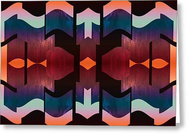 Geometric Effect Greeting Cards - Design Spin 81 Greeting Card by Joe  Connors
