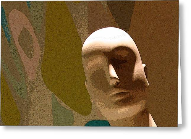 Woman Head Sculpture Greeting Cards - Design With Mannequin Greeting Card by Ben and Raisa Gertsberg