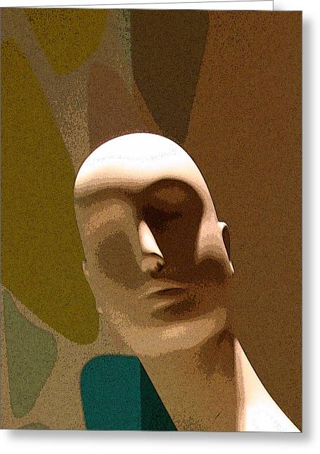 Brown Head Sculpture Greeting Cards - Design With Mannequin Greeting Card by Ben and Raisa Gertsberg