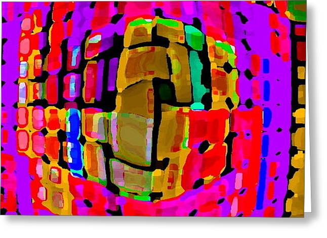 DESIGNER PHONE CASE ART COLORFUL RICH BOLD ABSTRACTS CELL PHONE COVERS CAROLE SPANDAU CBS ART 138 Greeting Card by CAROLE SPANDAU