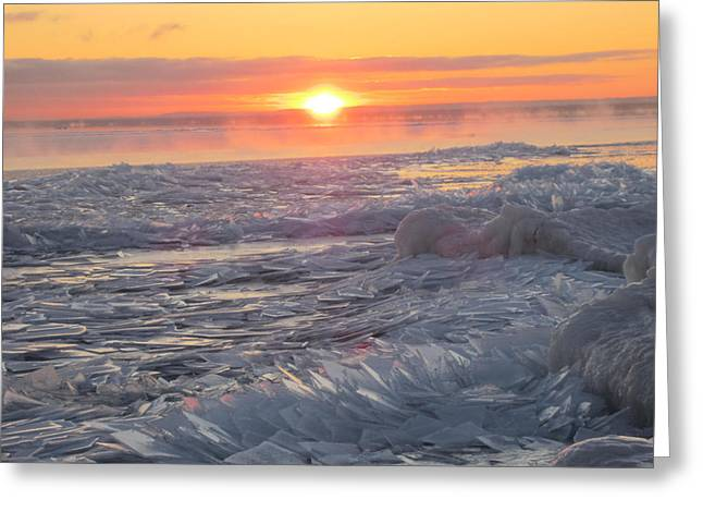 Superior Sunrise Greeting Cards - Designer Plates Greeting Card by Alison Gimpel
