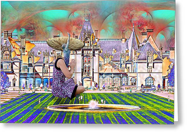 Fantasy World Greeting Cards - Designers World Greeting Card by Betsy A  Cutler