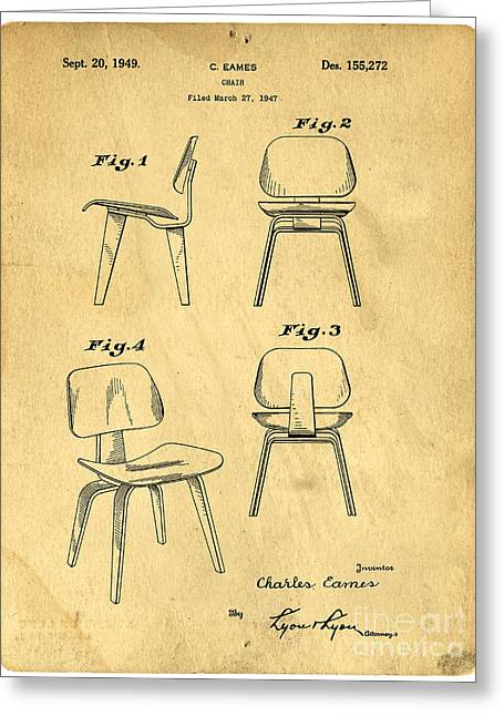 Chair Greeting Cards - Designs for a Eames chair Greeting Card by Edward Fielding