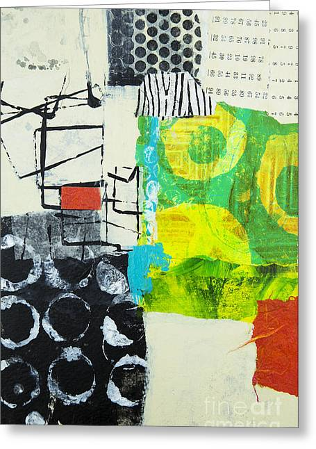 Abstraction Mixed Media Greeting Cards - Desintegration Greeting Card by Elena Nosyreva