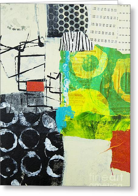 Abstractions Mixed Media Greeting Cards - Desintegration Greeting Card by Elena Nosyreva