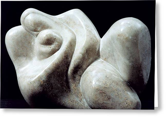 Figurative Sculptures Greeting Cards - Desire Greeting Card by Shimon Drory