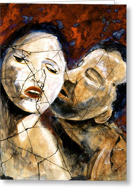Ancient Greece Greeting Cards - Desire - Study No. 2 Greeting Card by Steve Bogdanoff