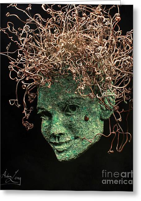 Tendrils Greeting Cards - Desired Greeting Card by Adam Long