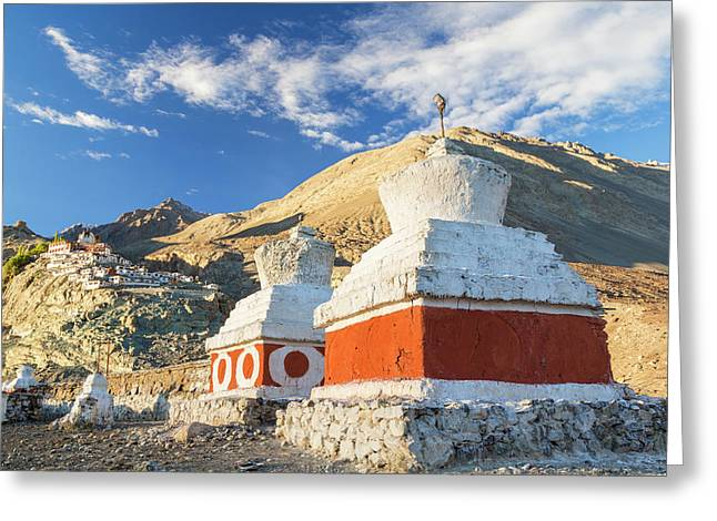 Deskit Monastery, Ladakh, India Greeting Card by Peter Adams