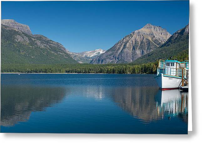 Boats On Water Greeting Cards - DeSmet waits for Tour Greeting Card by Greg Nyquist