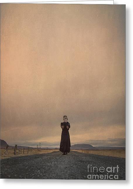 Evocative Greeting Cards - Desolate Ever After Greeting Card by Evelina Kremsdorf