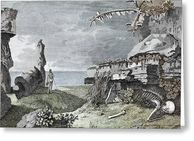 Desolation Of Easter Island Greeting Card by Paul D Stewart