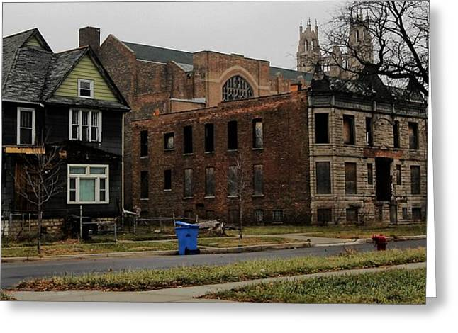 Desolation Row In Color Greeting Card by Andre Van Vegten