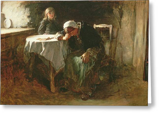 Weeping Greeting Cards - Despair, 1881 Greeting Card by Frank Holl