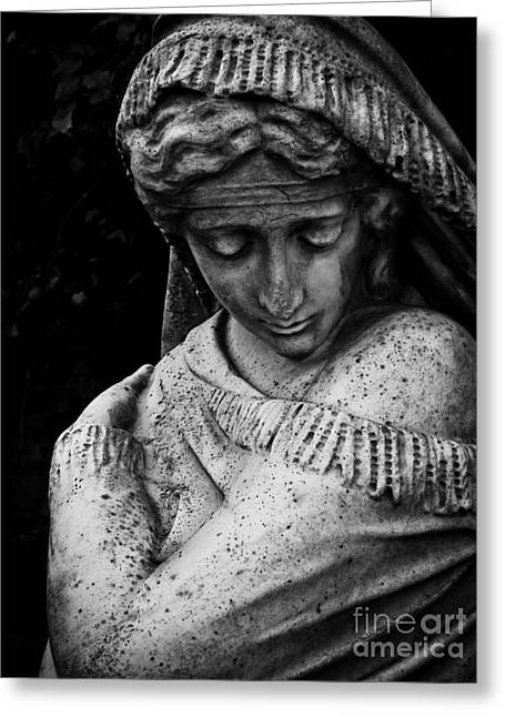 Statue Portrait Photographs Greeting Cards - Despair Greeting Card by Colleen Kammerer