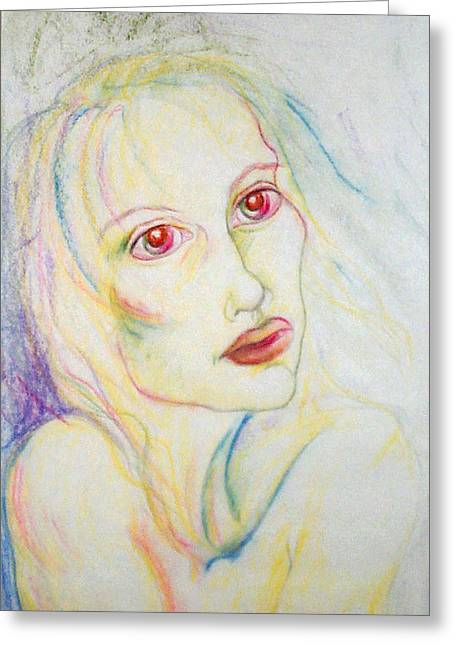 Sadness Pastels Greeting Cards - Despair s Visit Greeting Card by Sheri Lauren Schmidt