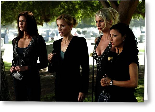 Tablets Greeting Cards - Desperate Housewives TV serie - 1 Greeting Card by Gabriel T Toro