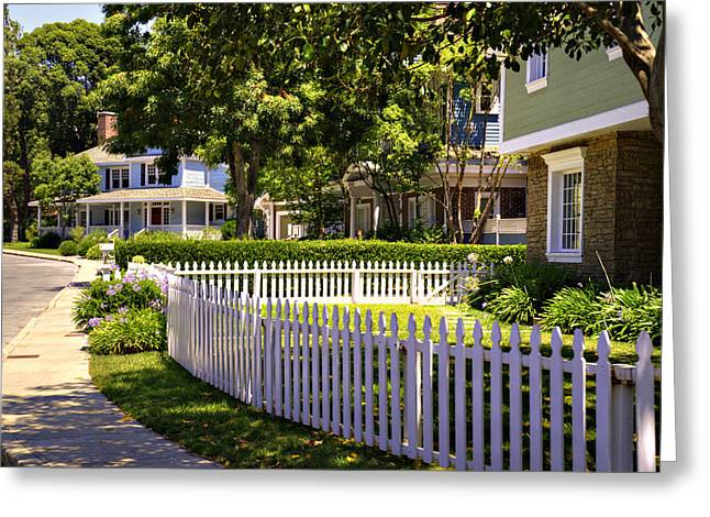 Desperate Housewives Greeting Cards - Desperate Neighborhood Greeting Card by Ricky Barnard