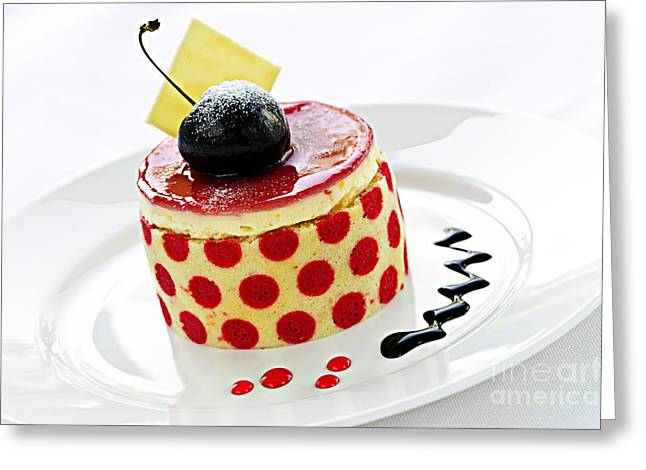 Portion Greeting Cards - Dessert Greeting Card by Elena Elisseeva
