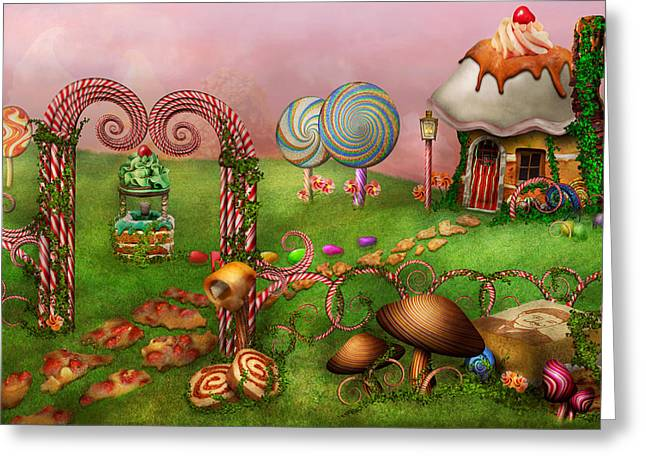 Wishing Well Greeting Cards - Dessert - Sweet Dreams Greeting Card by Mike Savad