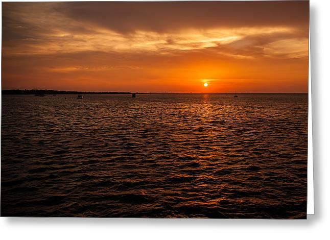 Panama City Beach Greeting Cards - Destin Bay Greeting Card by Paul Bartoszek