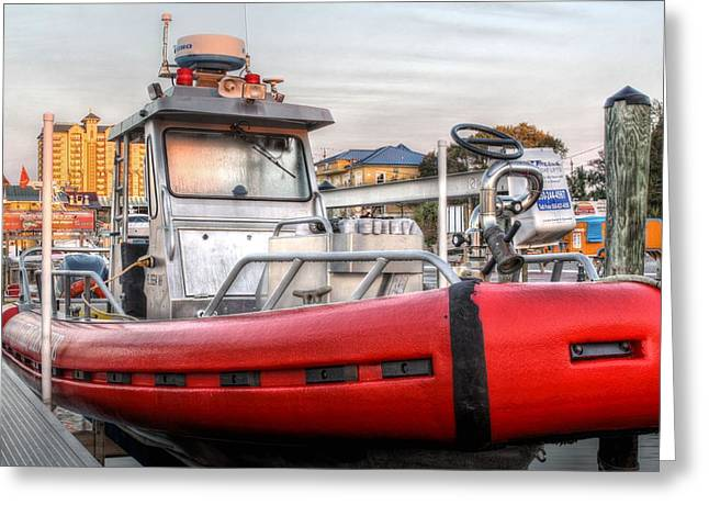 Fireboat Greeting Cards - Destin Fire and Rescue Greeting Card by JC Findley