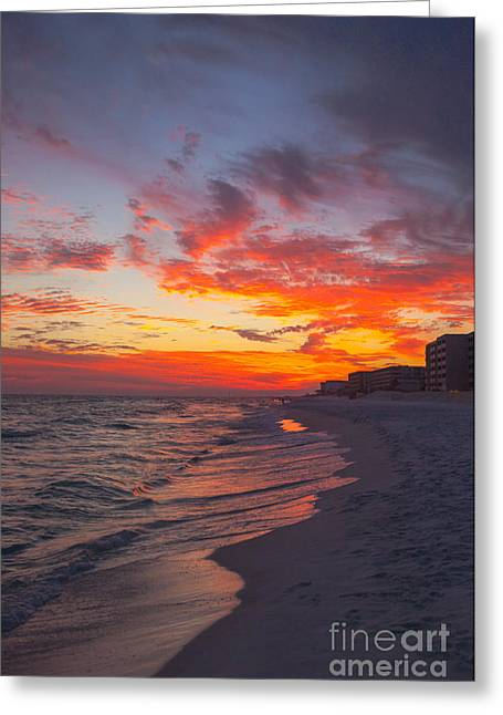 Destin Greeting Cards - Destin Sunset Greeting Card by Kay Pickens