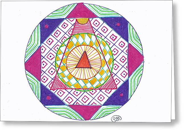 Meditation Greeting Cards - Destination Greeting Card by Signe  Beatrice