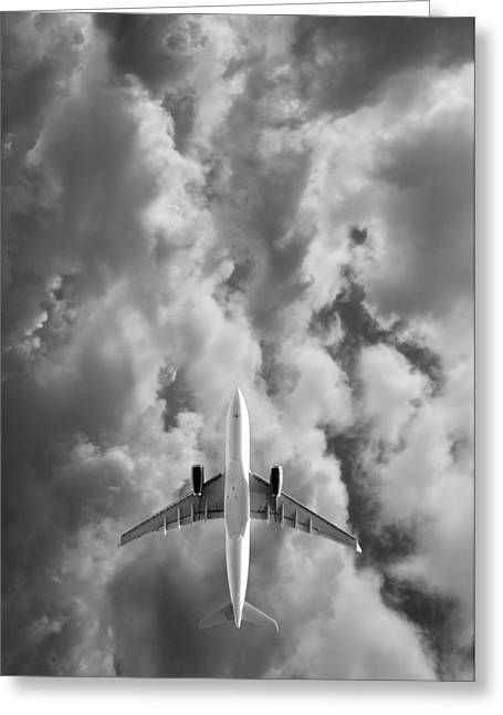 Jet Greeting Cards - Destination Unknown Greeting Card by Mark Rogan
