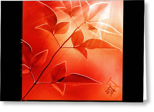 Kanji Greeting Cards - Destiny Greeting Card by Holly Kempe