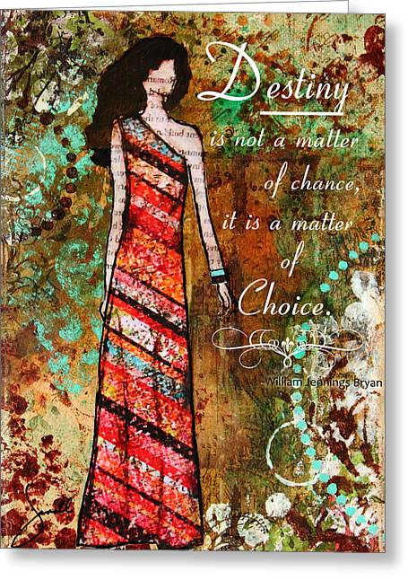 Religious ist Mixed Media Greeting Cards - Destiny Inspirational Christian Art Greeting Card by Janelle Nichol