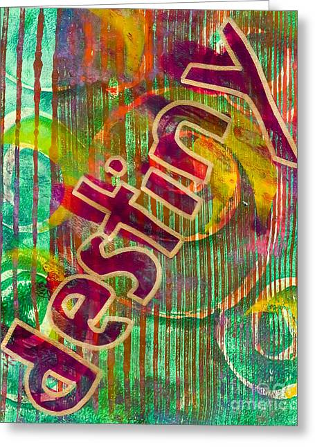Destiny Mixed Media Greeting Cards - Destiny Greeting Card by Laura L Leatherwood