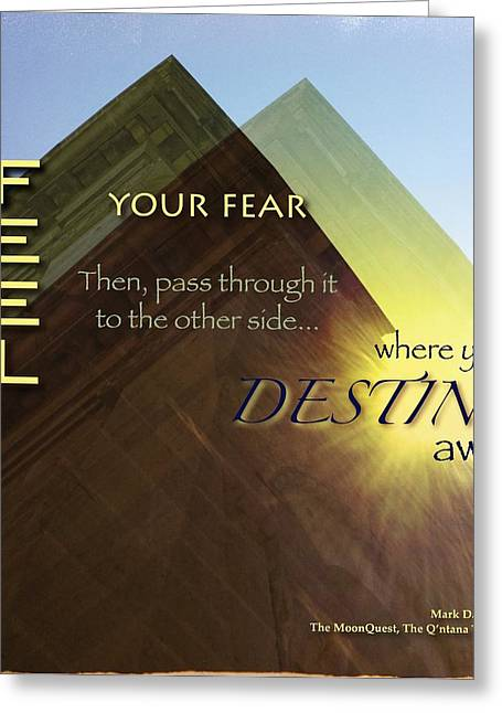 Fearlessness Digital Art Greeting Cards - Destiny Greeting Card by Mark David Gerson
