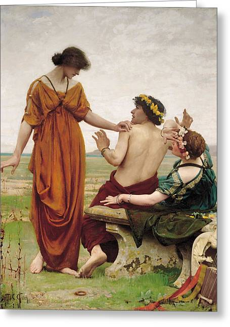 Destiny Paintings Greeting Cards - Destiny Greeting Card by Thomas Cooper Gotch