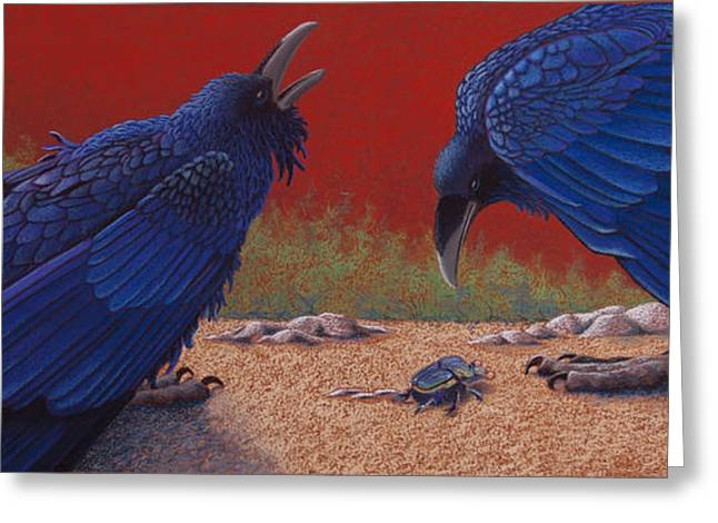 Scarab Greeting Cards - Destiny Unknown Greeting Card by Tracy L Teeter
