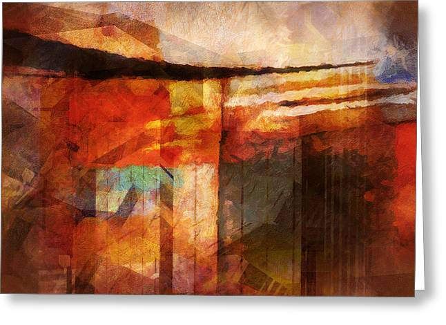 Composition Mixed Media Greeting Cards - Destinyscape Greeting Card by Lutz Baar